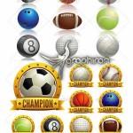 دانلود تصاویر انواع توپ های ورزشی فرمت PNG و وکتور EPS و AI