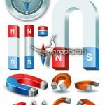 دانلود تصاویر وکتور انواع آهنربا Magnets Vector