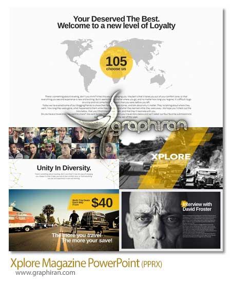 Xplore Magazine PowerPoint دانلود قالب زیبا پاورپوینت Xplore Magazine PowerPoint   شماره 30