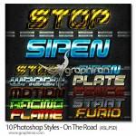 استایل های فتوشاپ با موضوع جاده On The Road Photoshop Styles