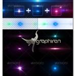 دانلود طرح های لایه باز پرتو نور Light Effects Bundle 4-6