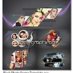 دانلود ۵ طرح فریم عکس زیبا برای فتوشاپ Photo Frame Template