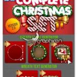 اکشن و استایل فتوشاپ ساخت افکت کریسمس Christmas Generator Set