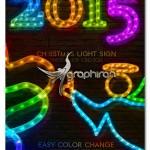 اکشن فتوشاپ افکت ریسه LED کریسمس Christmas LED Light Rope