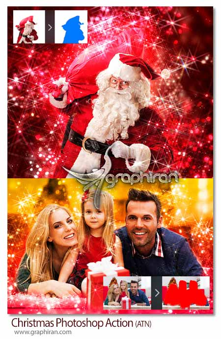 افکت عکس کریسمس