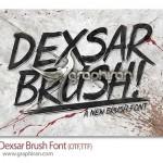 دانلود فونت خشن Dexsar Brush با طراحی کاملا حرفه ای و جذاب