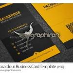 نمونه کارت ویزیت عمودی با تم رنگ زرد فرمت PSD – شماره ۲۴۱