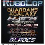 استایل فتوشاپ زیبا فیلم های سینمایی Movie Text Style Premium