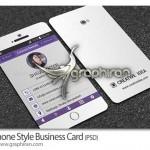 دانلود نمونه کارت ویزیت شکل گوشی موبایل فرمت PSD – شماره ۲۴۵