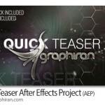 پروژه آماده و حرفه ای افتر افکت تیزر سریع Quick Teaser