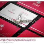 دانلود فایل خام PSD کارت ویزیت ساده و حرفه ای – شماره ۲۳۶
