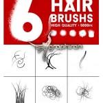 براش فتوشاپ تار و رشته مو Hair Strand Photoshop Brush