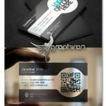 دانلود ۳ طرح کارت ویزیت شفاف، با کد QR و با لوگو – شماره ۲۴۰