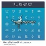 مجموعه آیکون های تجاری با طرح خطی Vector Business Line Icons