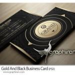 طرح لایه باز کارت ویزیت مشکی و طلایی بی نظیر – شماره ۲۳۸