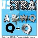 اکشن فتوشاپ طراحی متن ۳ بعدی فانتزی Illustrative 3D Styles