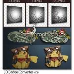 اکشن فتوشاپ سه بعدی کردن آرم و لوگو ۳D Badge Converter