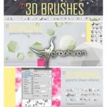 براش فتوشاپ شکل های هندسی ۳ بعدی ۳D Brushes for Photoshop