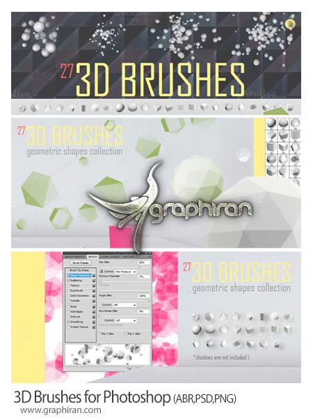 3D brushes for Photoshop