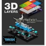 اکشن فتوشاپ تبدیل عکس به لایه های سه بعدی حرفه ای ۳D Layers