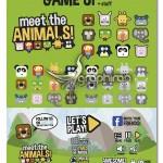 عناصر طراحی گرافیکی رابط کاربری بازی های کامپیوتری حیوانات