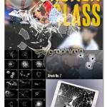دانلود مجموعه بی نظیر ۳۳ براش فتوشاپ شیشه های شکسته شده