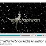 دانلود ویدئو استوک آماده بارش برف زیبا دارای کانال آلفا