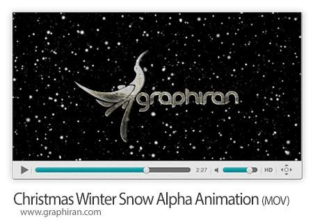 ویدئو بارش برف