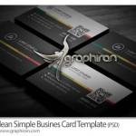 طرح ساده و جذاب کارت ویزیت فرمت PSD فتوشاپ – شماره ۲۵۷