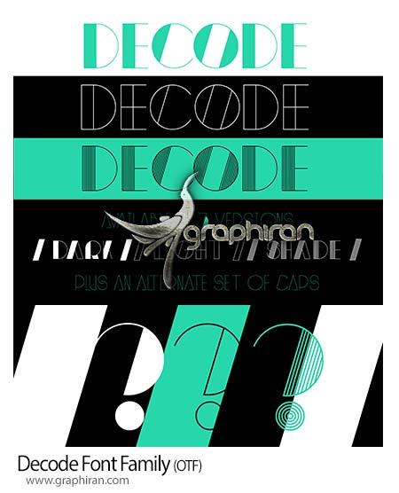 فونت Decode