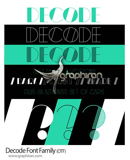 Decode Font Family دانلود فونت Decode با سبک قدیمی و کلاسیک مناسب تایپوگرافی