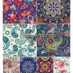 دانلود تصاویر وکتور پترن های گل دار دکوپاژ از ShutterStock