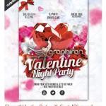 دانلود پوستر PSD لایه باز با تم عاشقانه و تصویر قلب الماسی