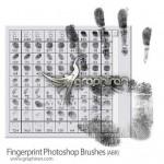 دانلود براش فتوشاپ اثر انگشت Fingerprint Photoshop Brush