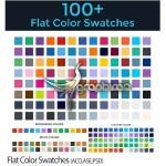 سواچ بیش از ۱۰۰ رنگ فلت برای فتوشاپ، ایندیزاین و ایلوستریتور