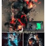 اکشن فتوشاپ ایجاد افکت های انتزاعی خشم Fury Photoshop Action
