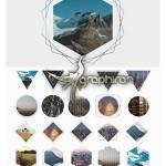 دانلود ۵۰ ماسک فتوشاپ هندسی برای ساخت تصاویر گرافیکی و هنری