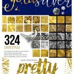 ۳۲۴ استایل طلا و نقره فتوشاپ Gold & Silver InstaGlam Styles