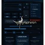 طرح لایه باز رابط کاربری کهکشانی برای طراحی سایت و اپلیکیشن