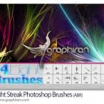 براش های خطوط نورانی فتوشاپ Light Streak Photoshop Brushes