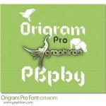 دانلود فونت جذاب Origam Pro الهام گرفته شده از اوریگامی