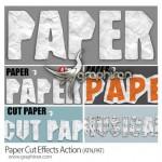 اکشن فتوشاپ ساخت افکت کاغذ روی متن و شکل Paper Cut Effects