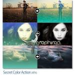 اکشن فتوشاپ ایجاد افکت رنگ اسرار آمیز Secret Color Action
