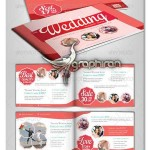 دانلود قالب لایه باز بروشور عروسی Wedding Brochure Template