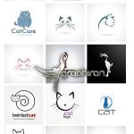 دانلود مجموعه ۲۰ تصویر وکتور لوگوی گربه از ShutterStock