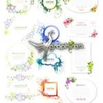 دانلود مجموعه وکتورهای فریم و کادرهای گل دار Floral Frames