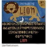 دانلود فونت کودکانه و کارتونی Lion در فرمت های OTF و WOFF