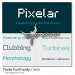 دانلود خانواده فونت های Pixelar با طراحی پیکسلی حرفه ای