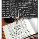 دانلود ۱۲۸ المان گل دار تزئینی Calligraphic Design Elements