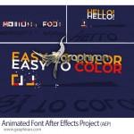 پروژه آماده افتر افکت حروف و فونت های متحرک Animated Font